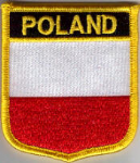 Poland Embroidered Flag Patch, style 07.